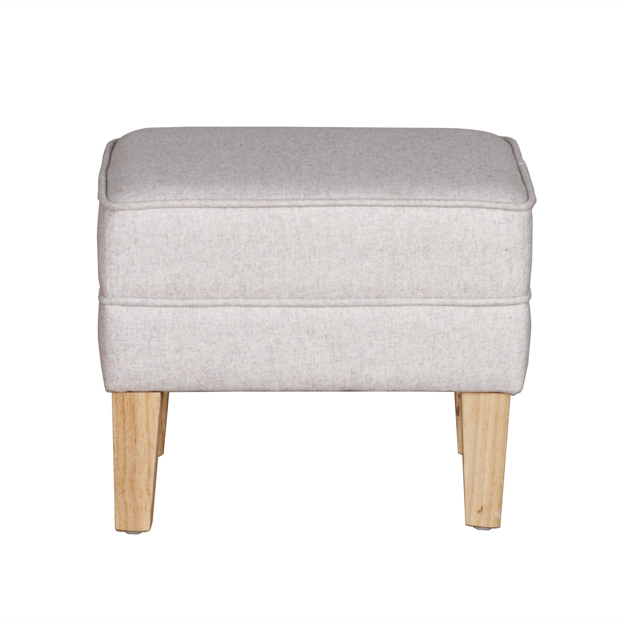 Cream Madrid Footstool