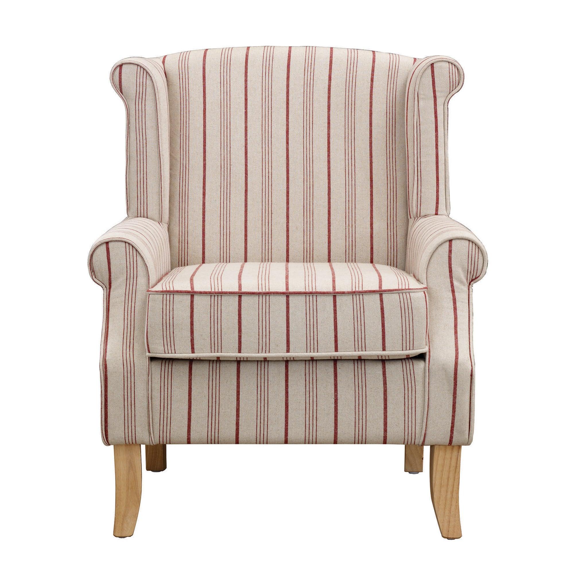 red stripe edinburgh armchair dunelm. Black Bedroom Furniture Sets. Home Design Ideas