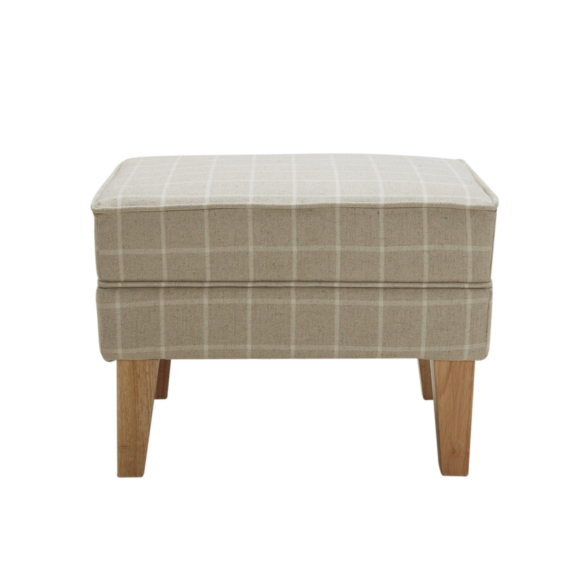 Natural Check Edinburgh Footstool
