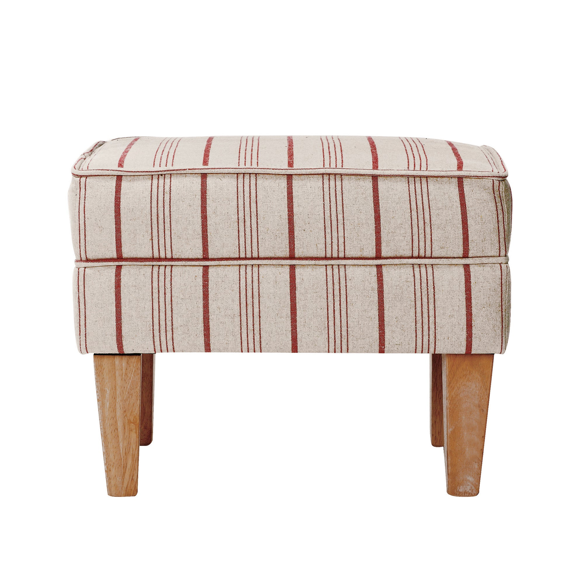 Red Stripe Edinburgh Footstool