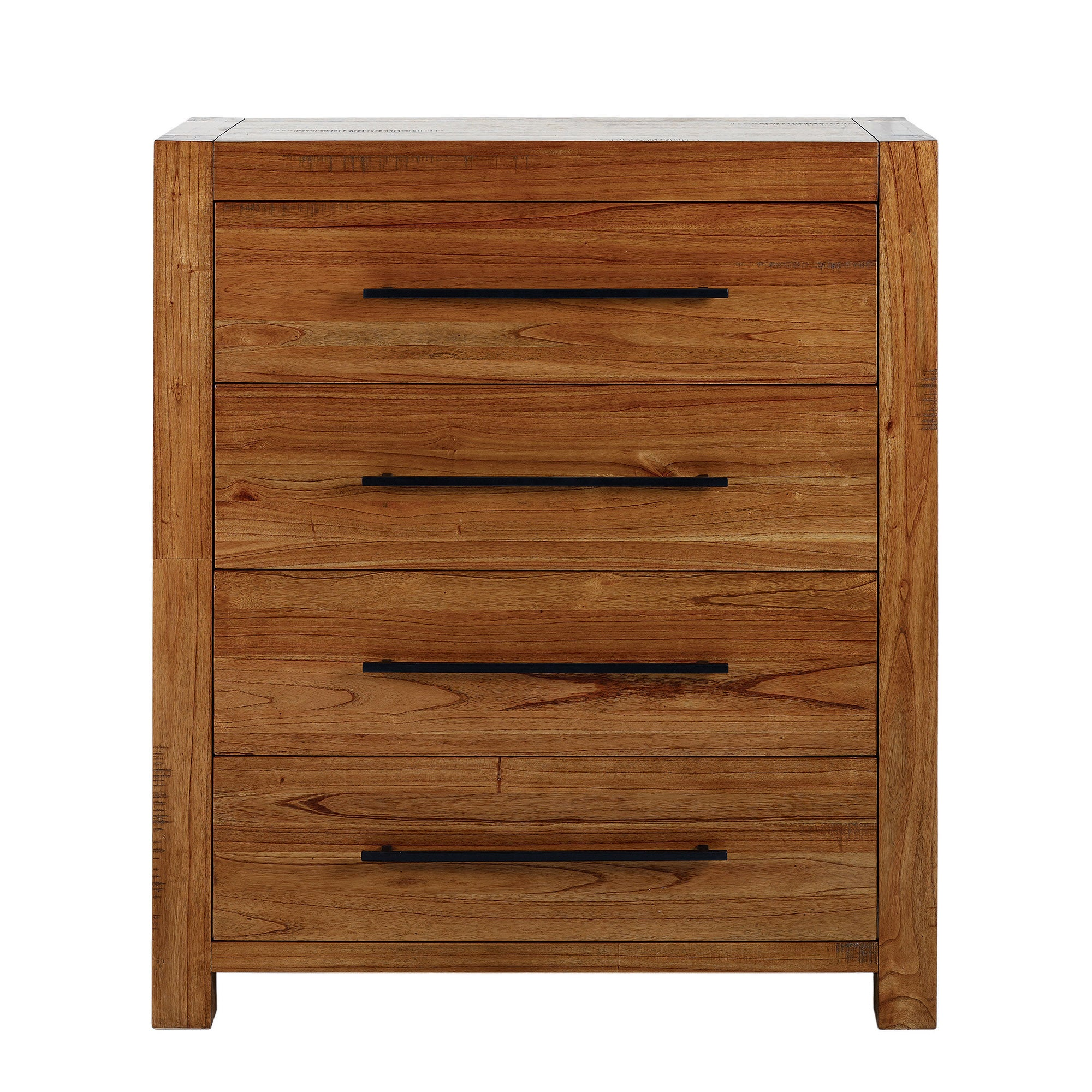 Columbia Acacia Dark Wood 4 Drawer Chest