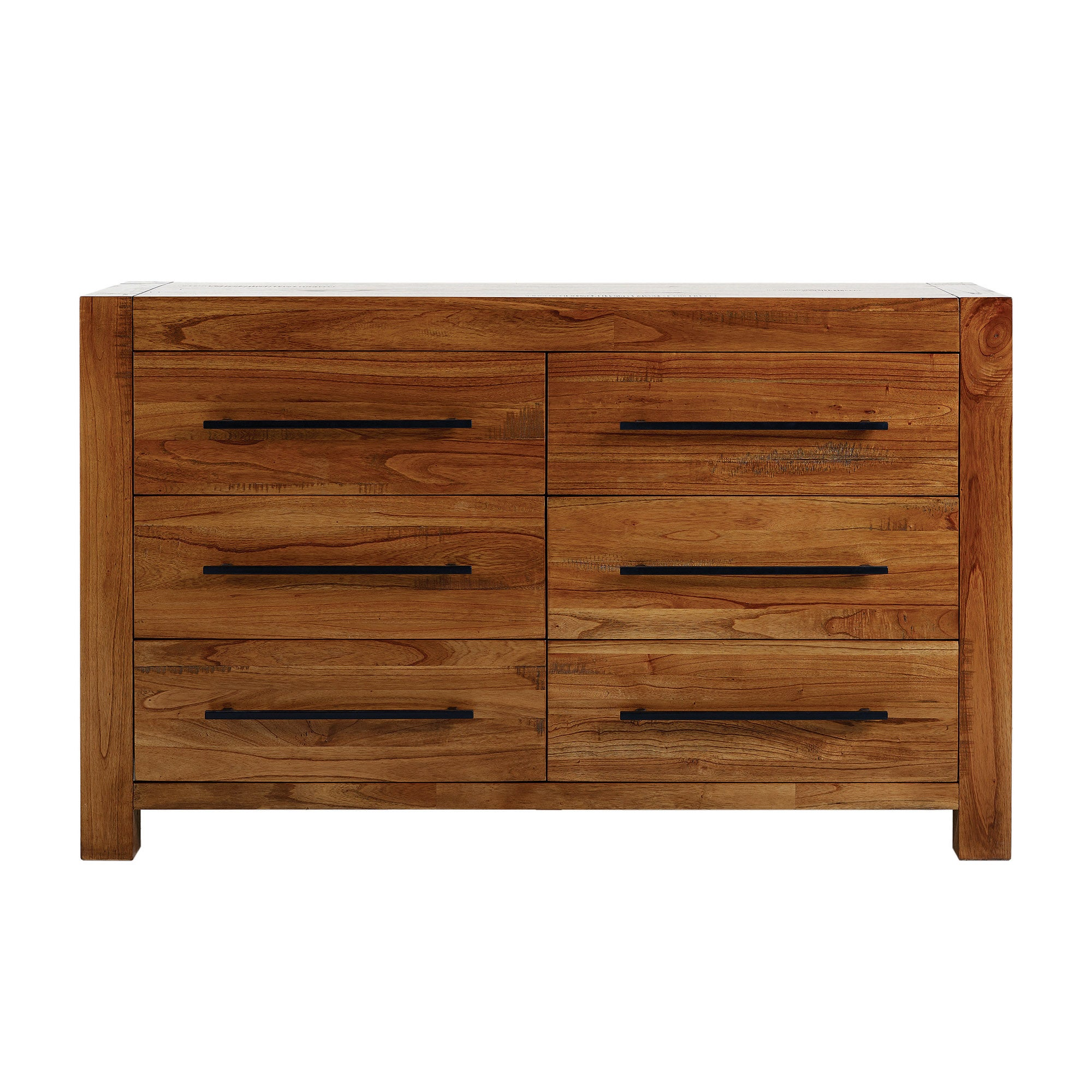 Columbia Acacia Dark Wood 6 Drawer Chest