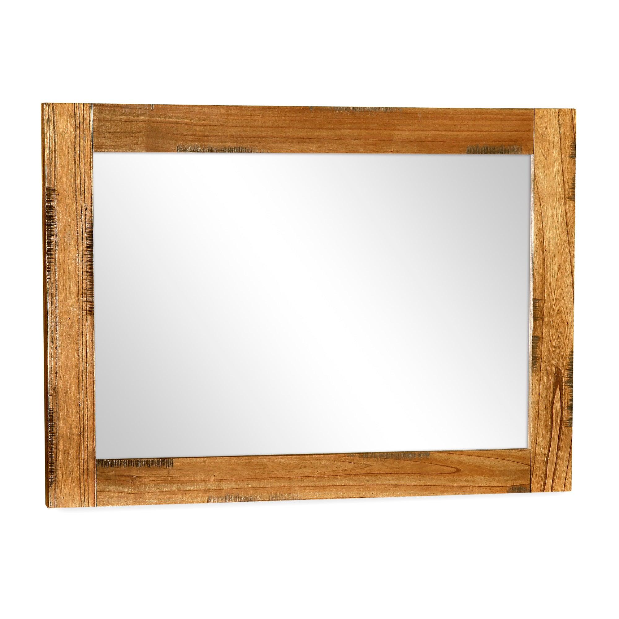 Columbia Acacia Dark Wood Mantle Mirror