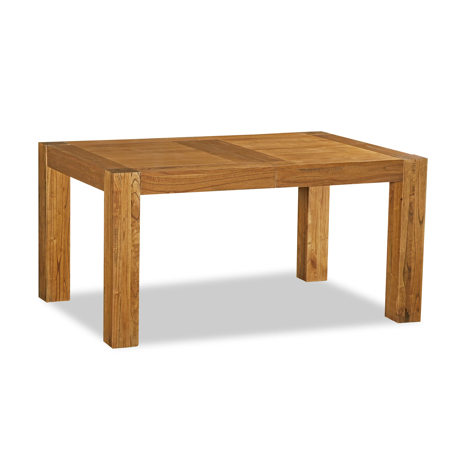 Columbia Acacia Dark Wood Small Extending Dining Table