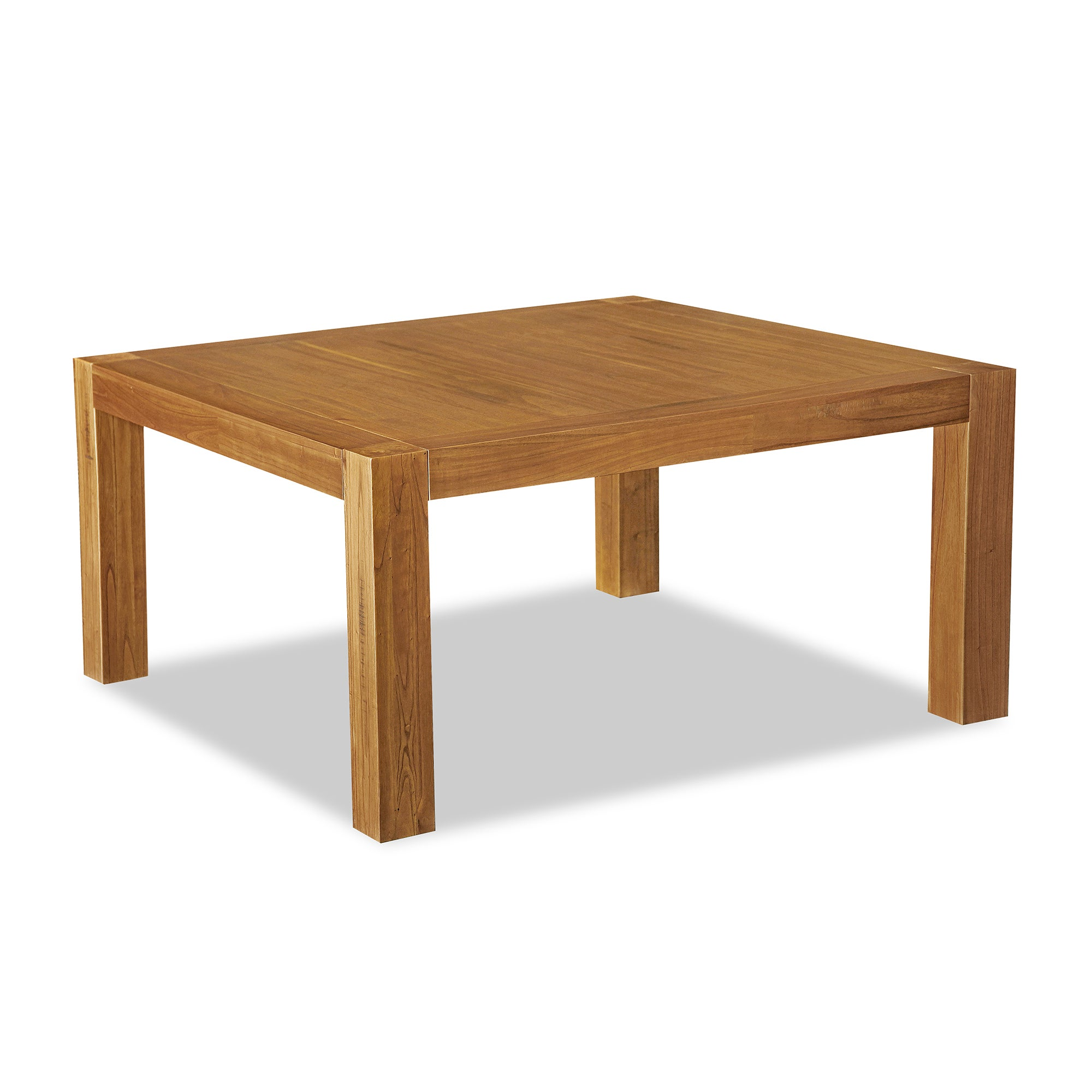 Columbia Acacia Dark Wood Square Dining Table