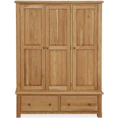 Gainsborough Oak Triple Wardrobe