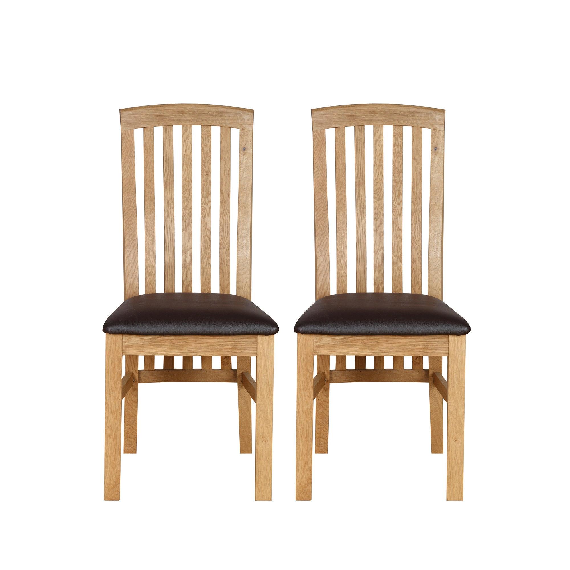 gainsborough pair of oak dining chairs dunelm. Black Bedroom Furniture Sets. Home Design Ideas