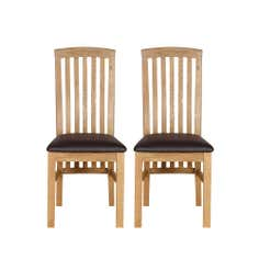 Gainsborough Pair of  Oak Dining Chairs