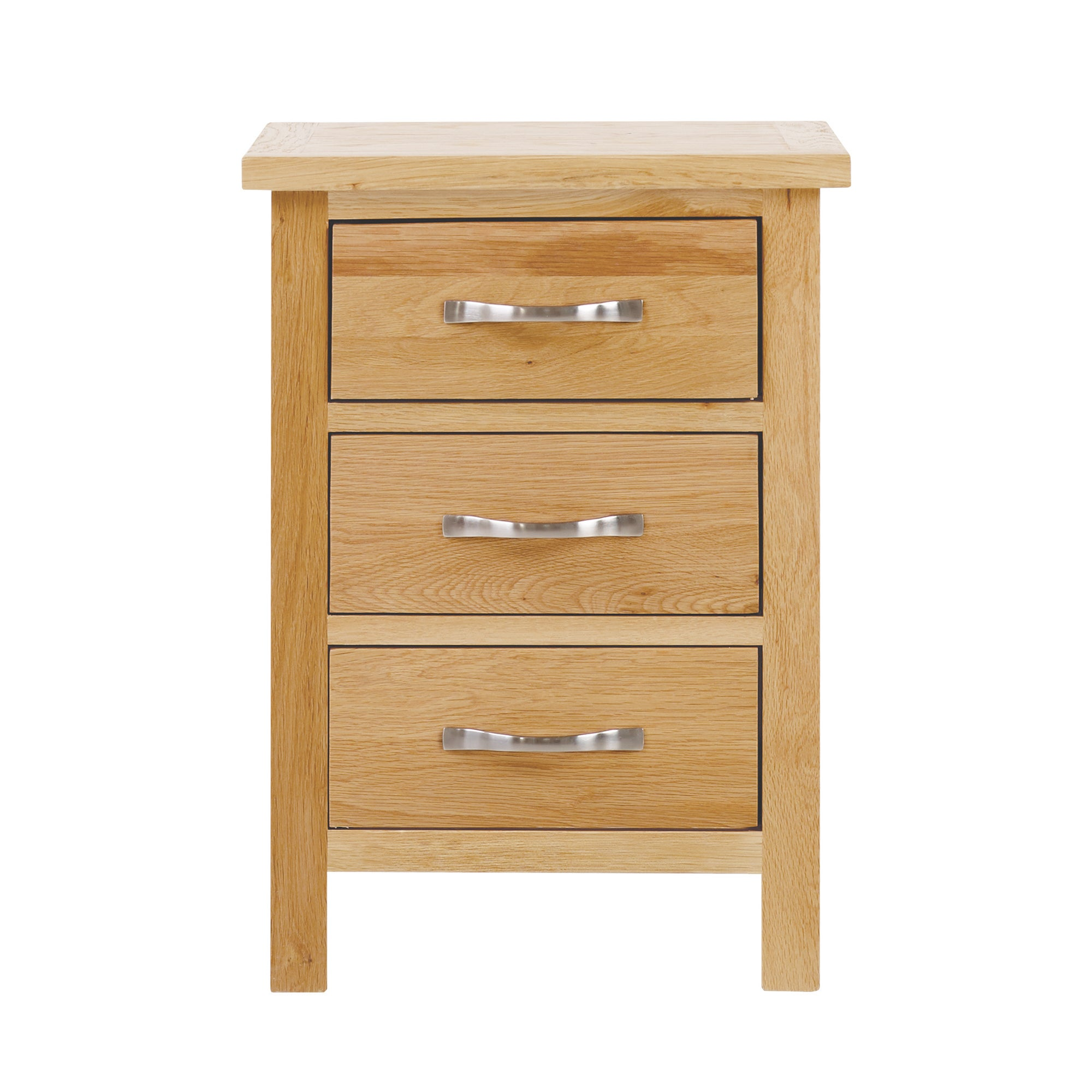 Hampshire Oak 3 Drawer Bedside Table