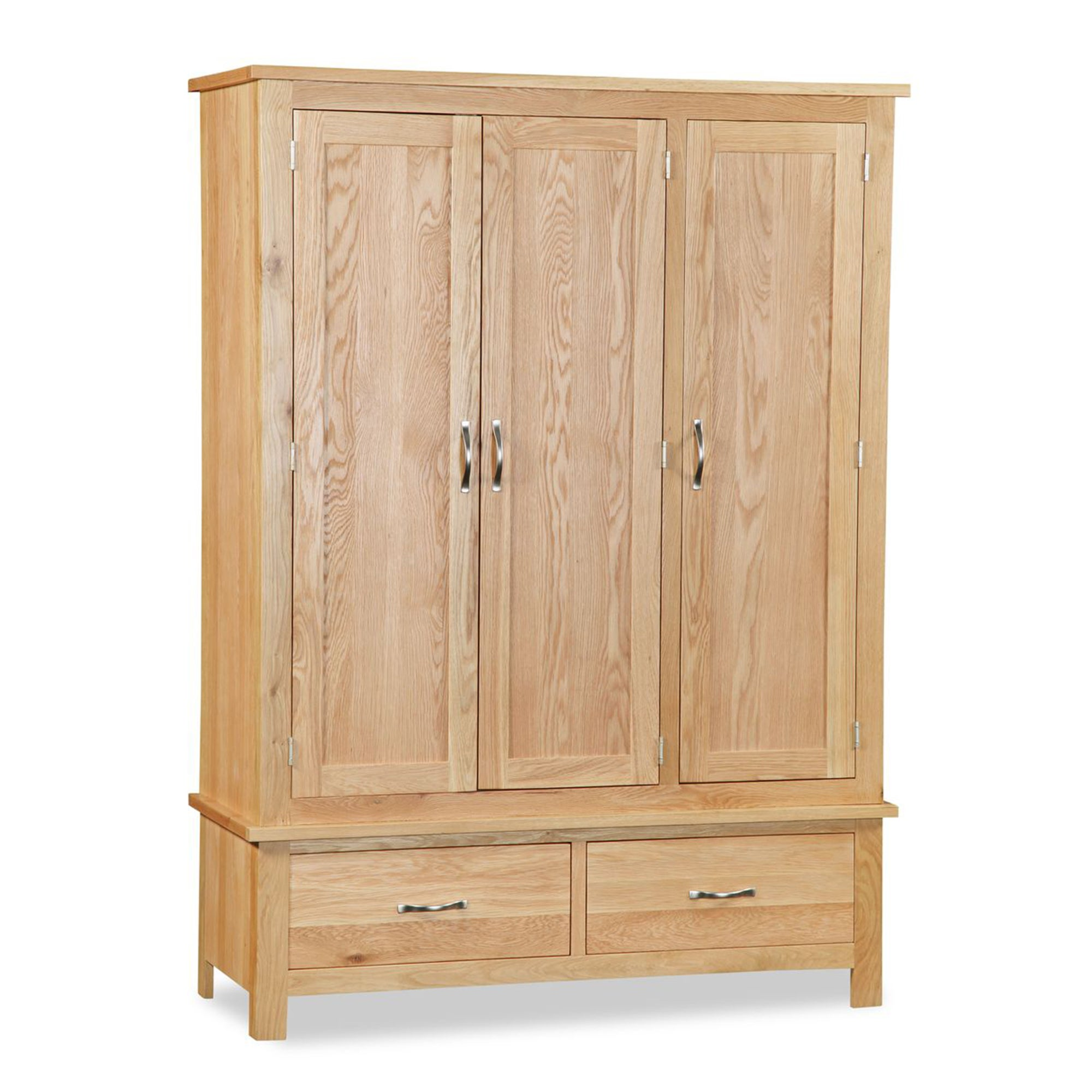 Hampshire Oak Triple Wardrobe