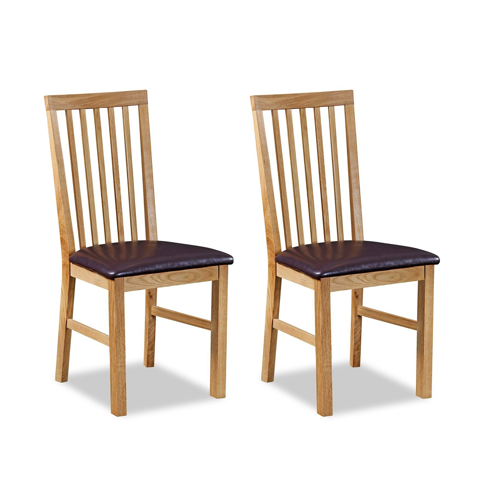 hampshire oak pair of dining chairs dunelm. Black Bedroom Furniture Sets. Home Design Ideas