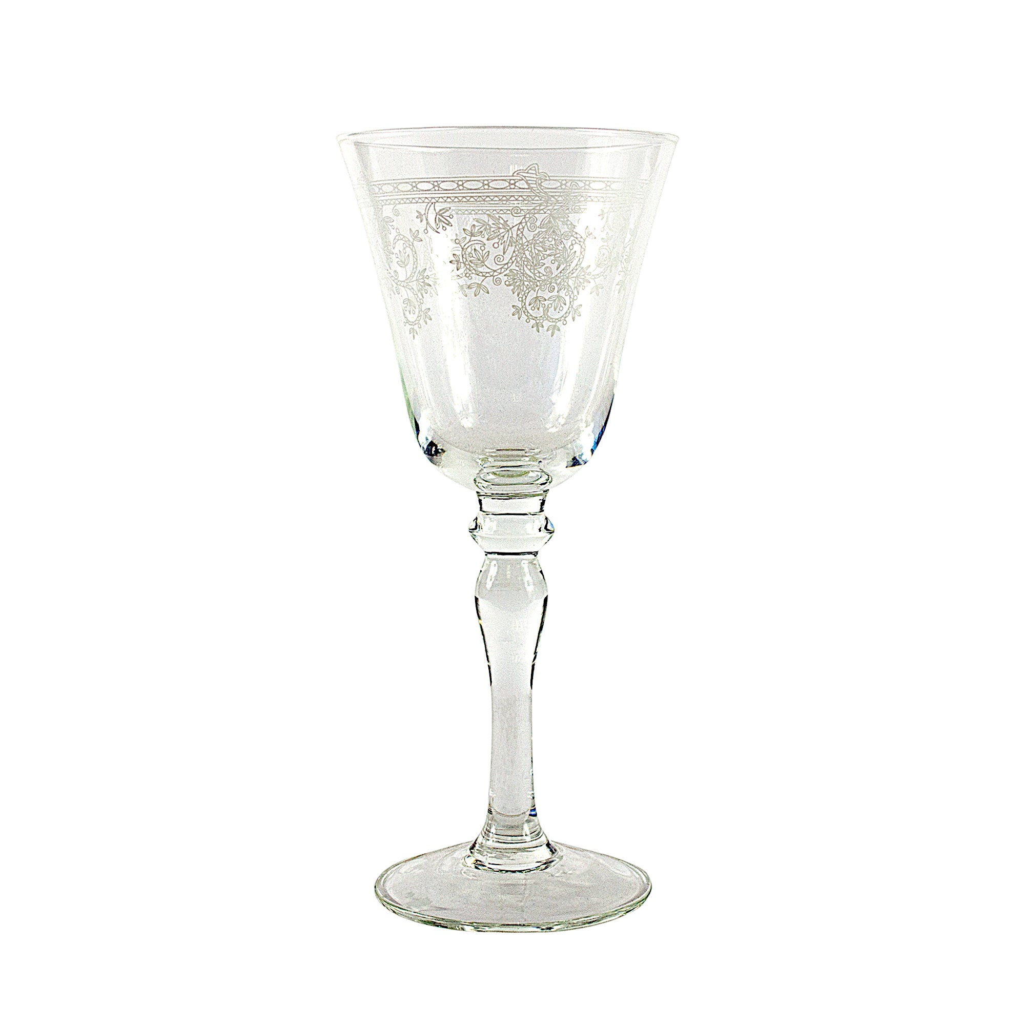 Nouveau Collection Lace Glass Goblet
