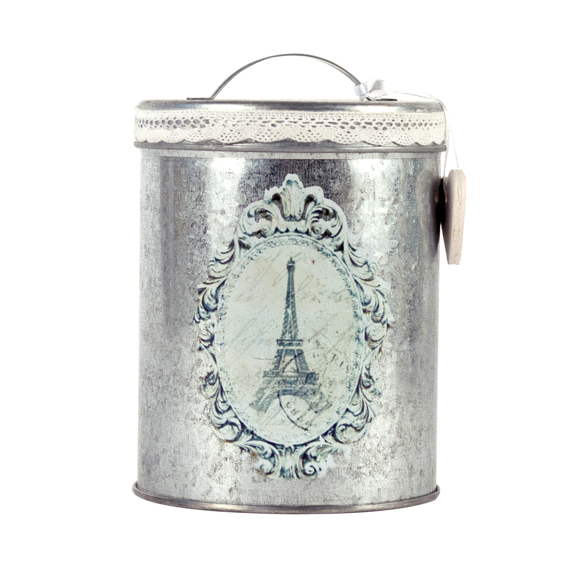 Nouveau Collection Silver Round Tin