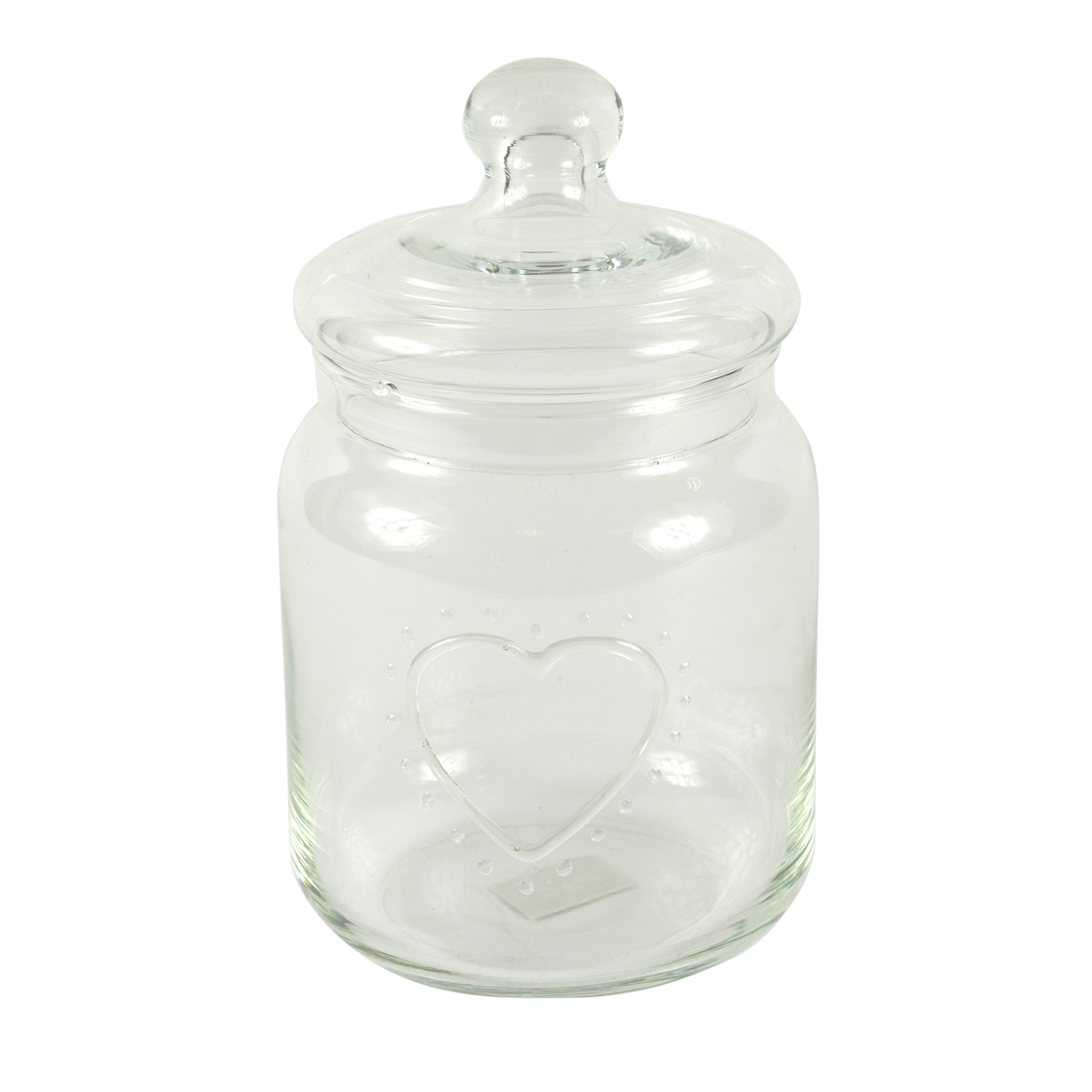 Nouveau Collection Embossed Tall Glass Jar
