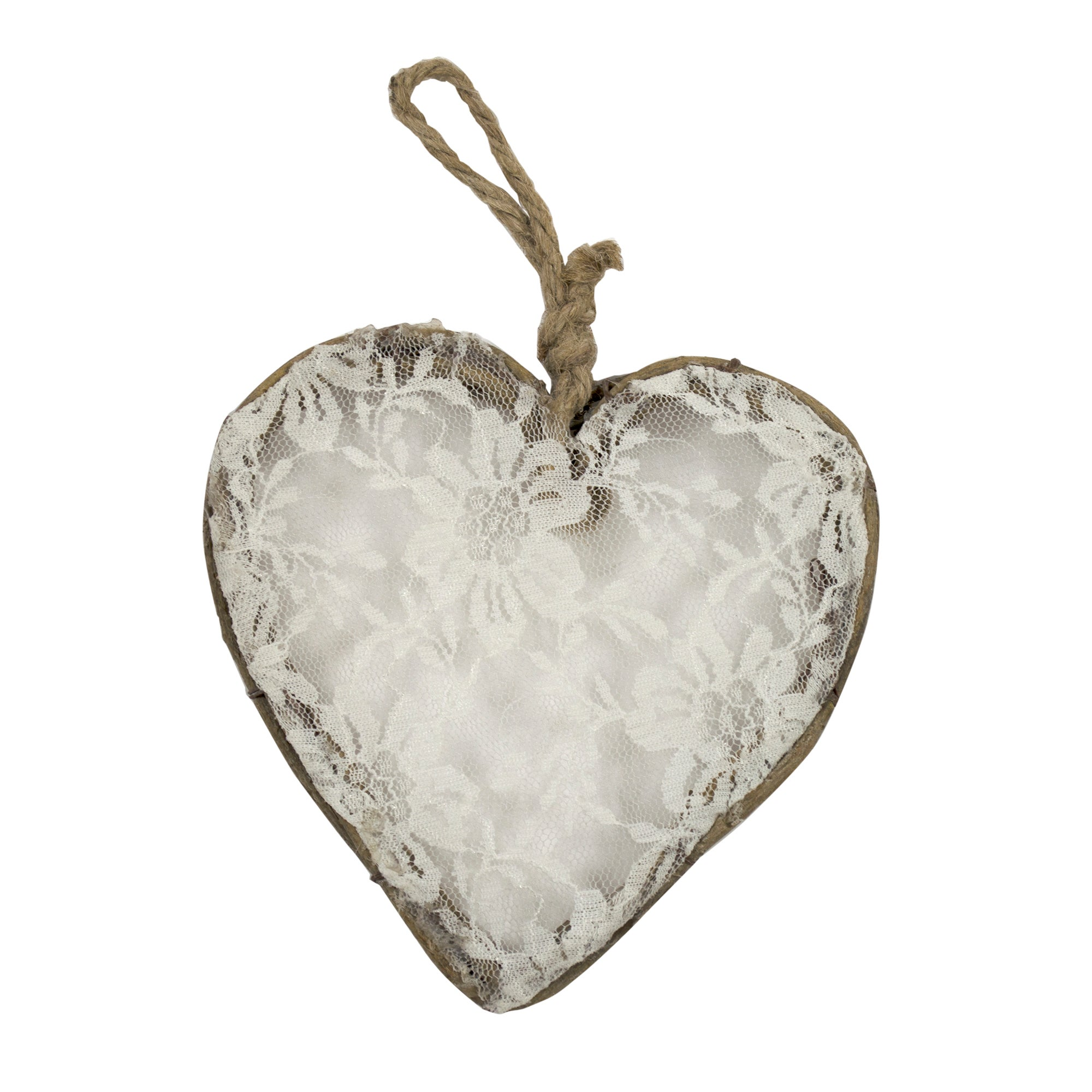 Nouveau Collection Frosted Rattan Hanging Heart