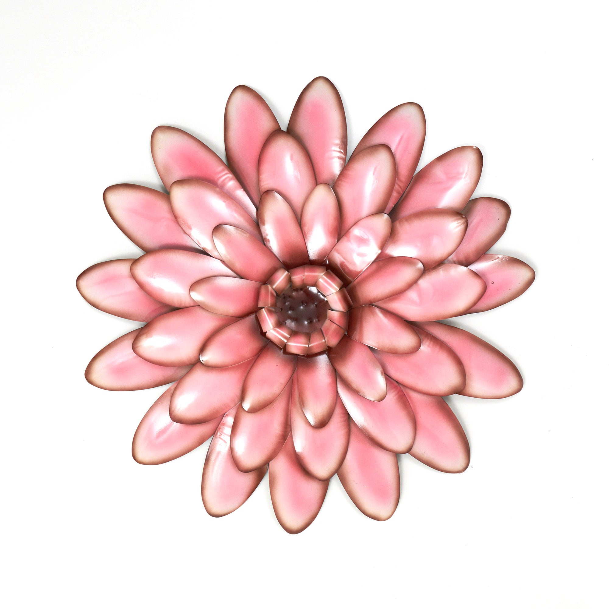 Pink Flower Head Metal Wall Art
