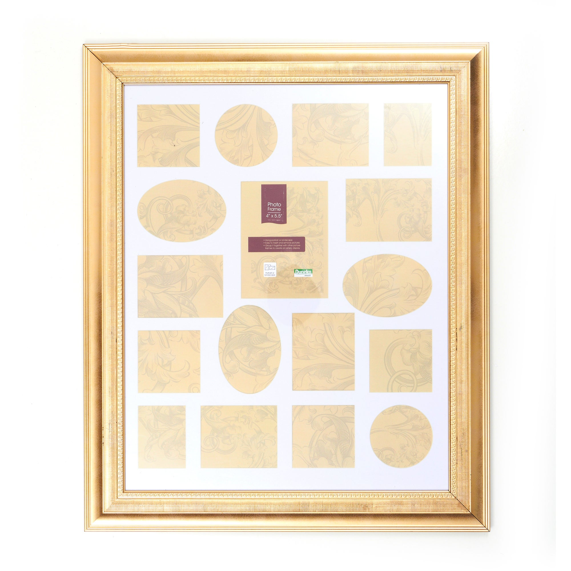 Gold Regency Multi Aperture Photo Frame