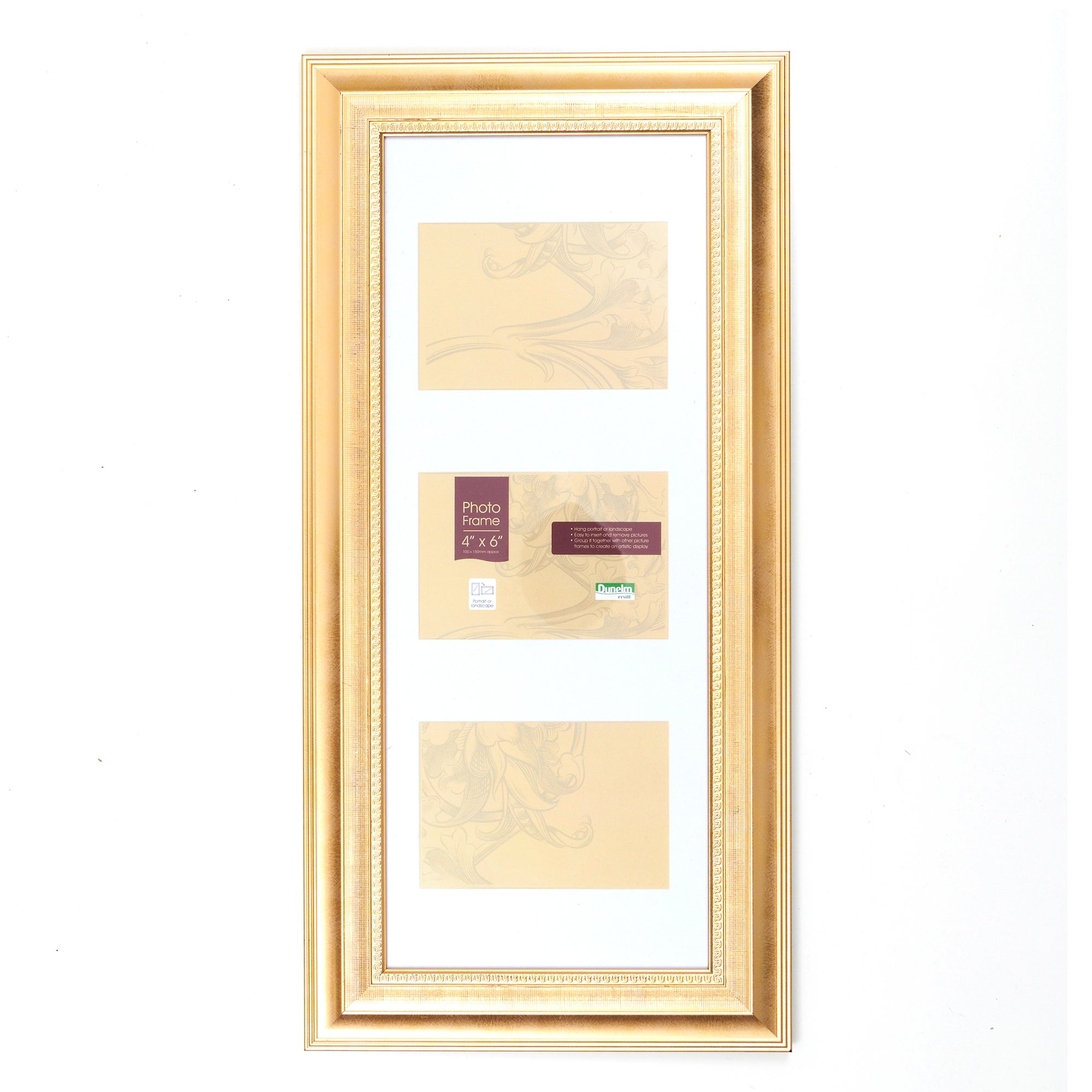 Gold Regency 3 Aperture Photo Frame