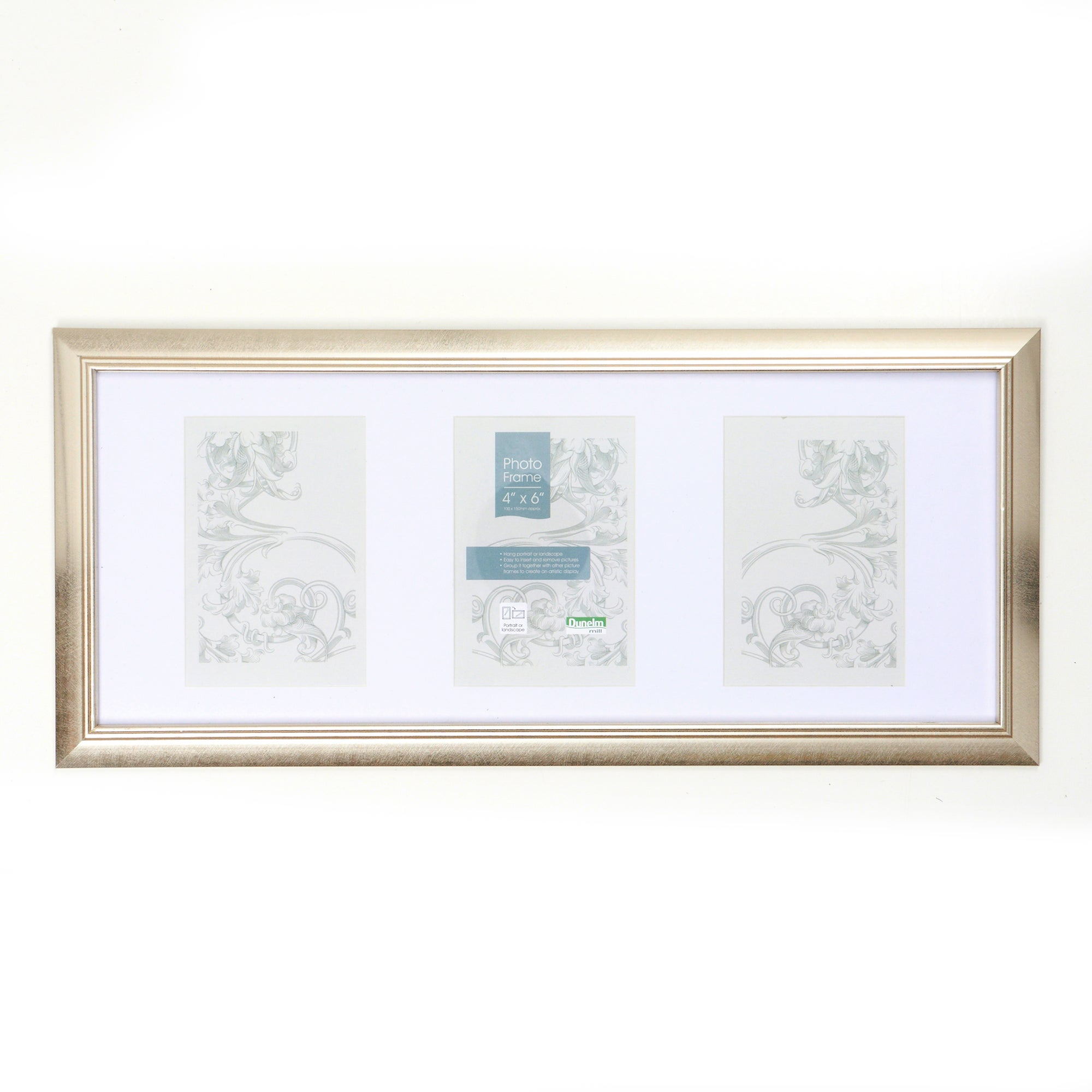 Silver Standard 3 Aperture Photo Frame