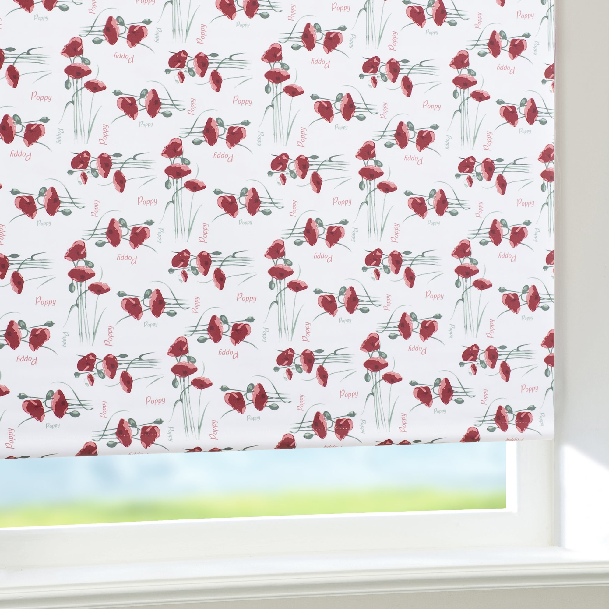Red Poppy Blackout Roller Blind
