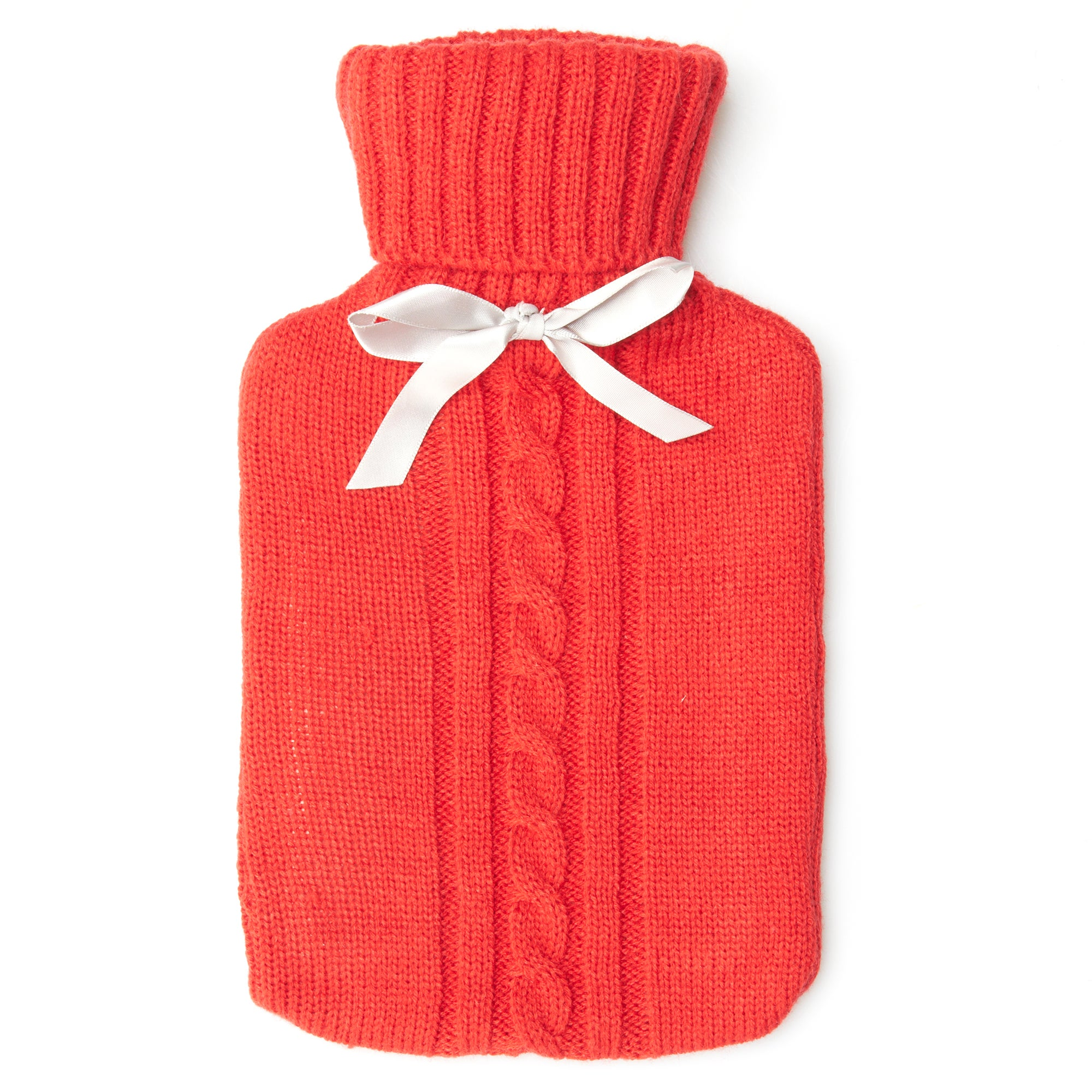 Red Knitted Hot Water Bottle