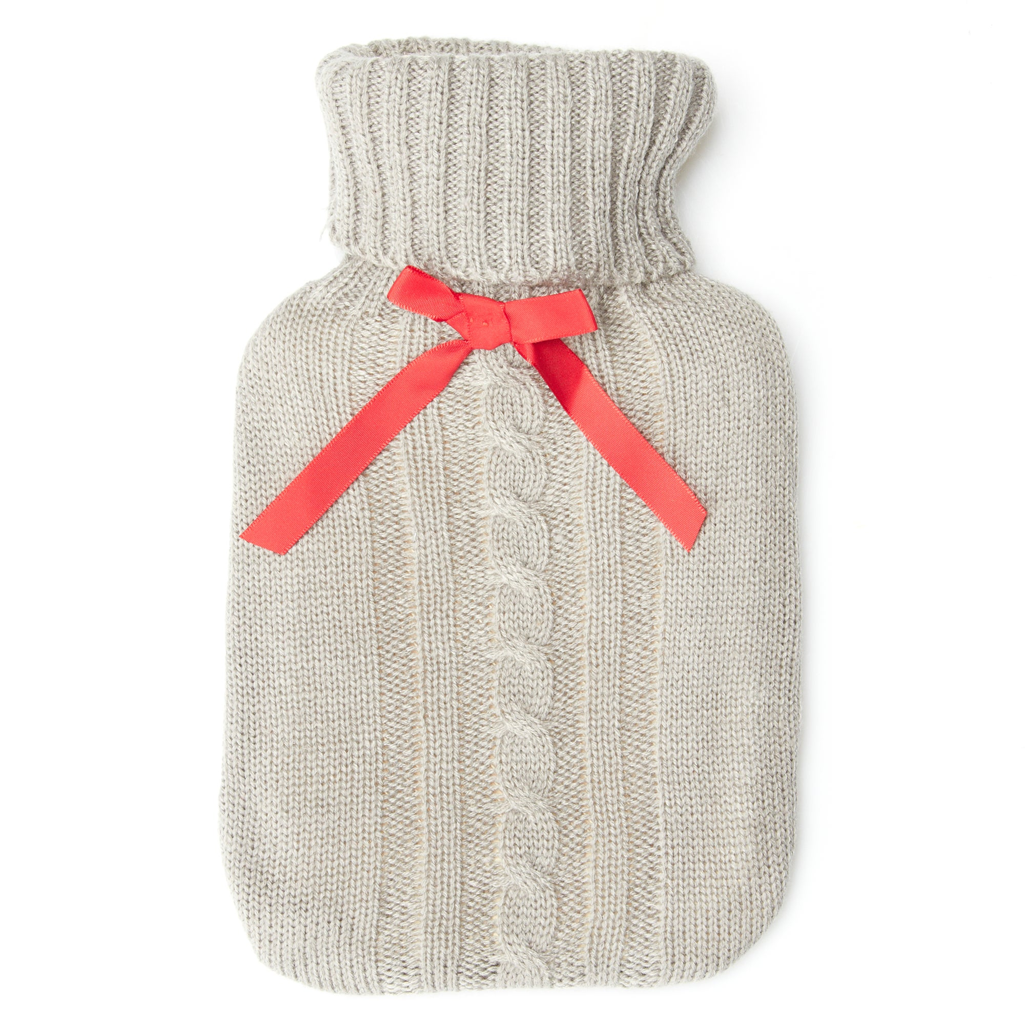 Grey Knitted Hot Water Bottle
