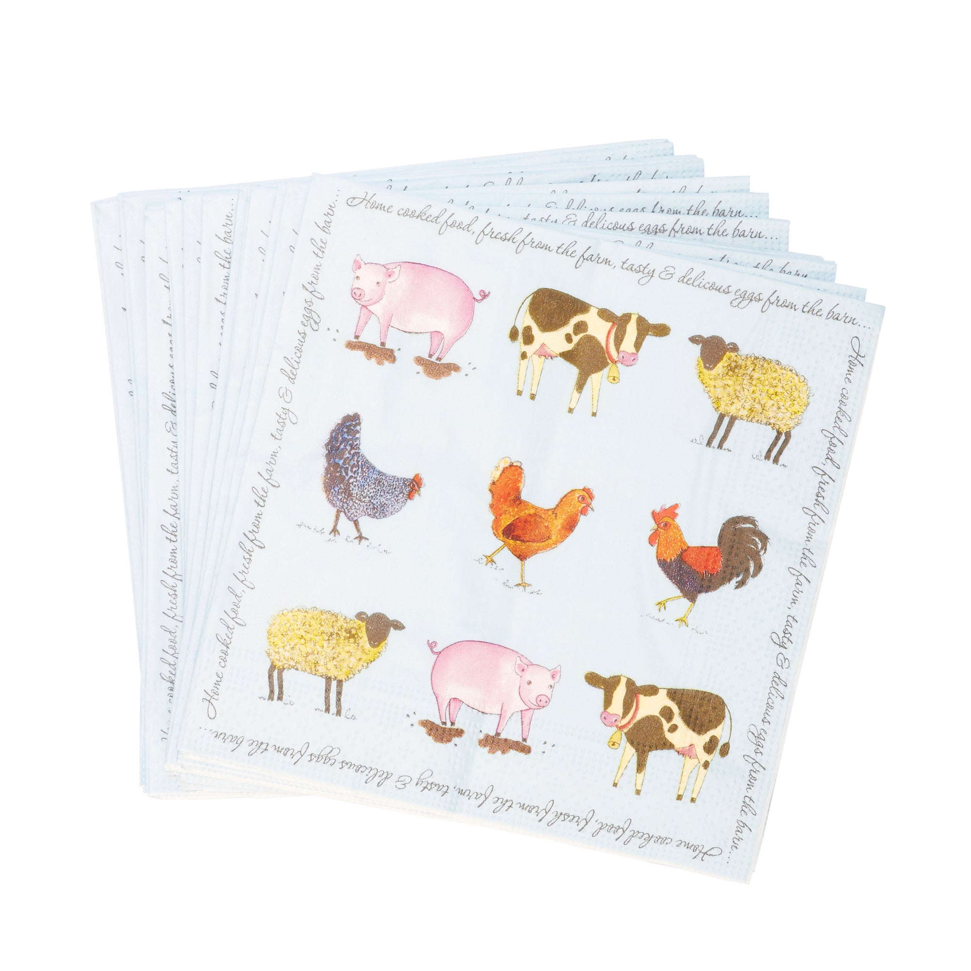 Bakewell Farm Collection Pack of 20 Paper Napkins