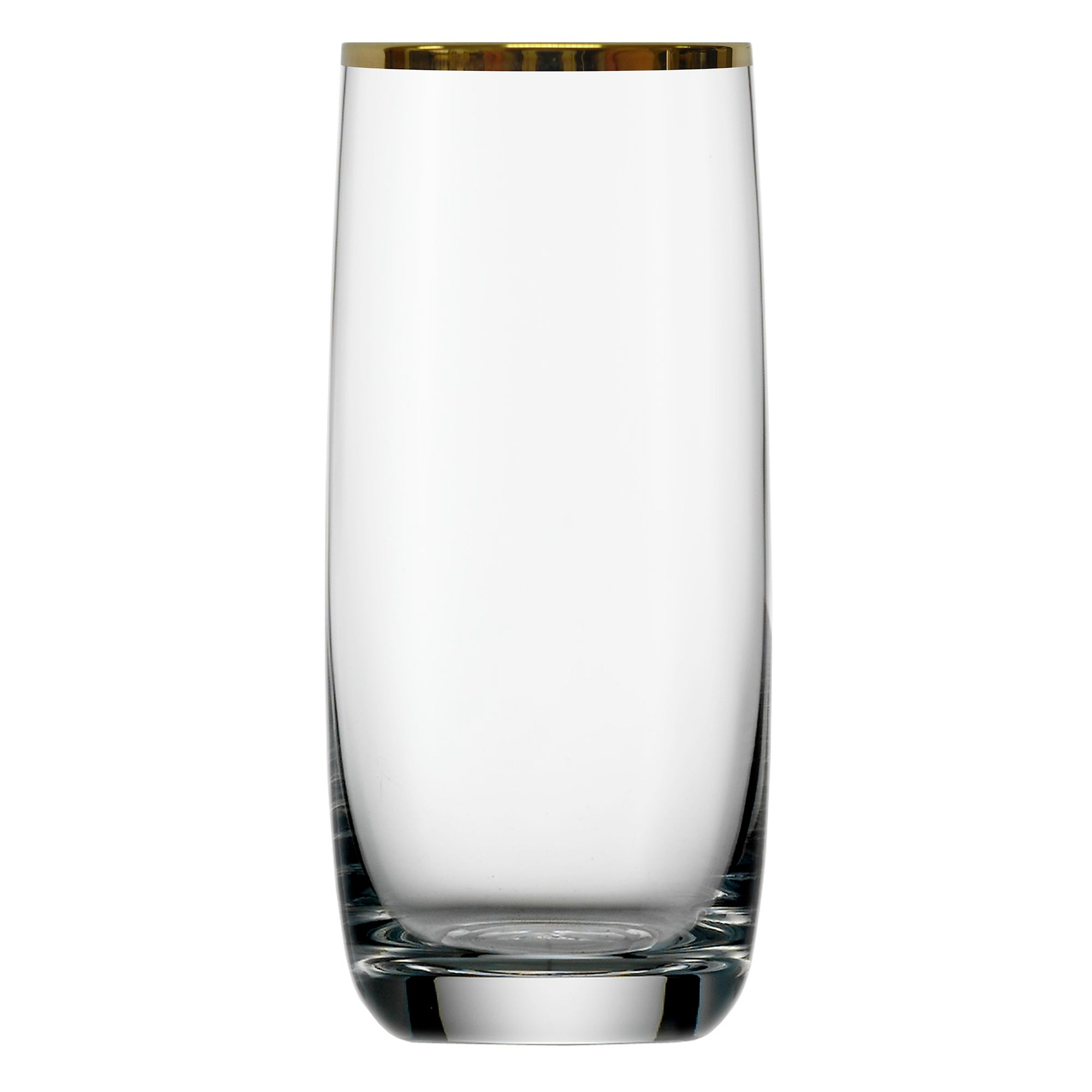 Set of 4 Gold Standard Rimmed Hiball Glasses
