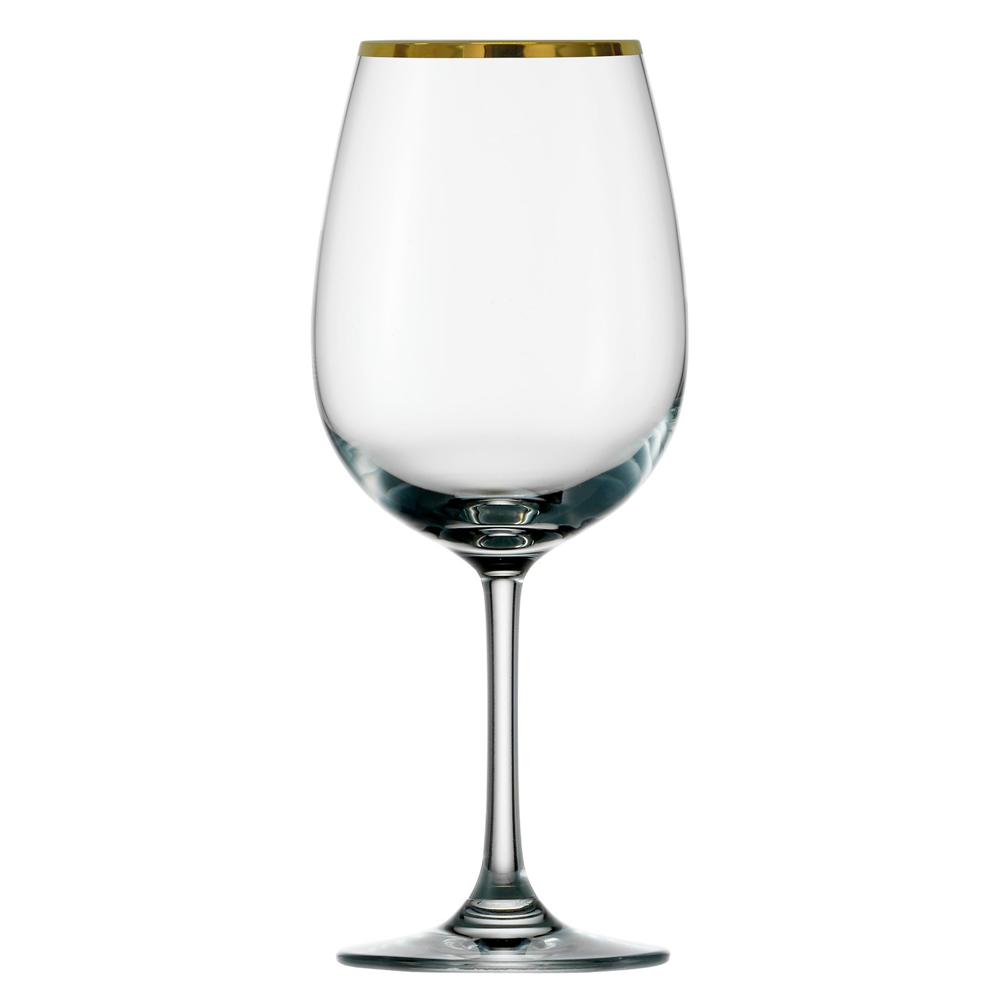 Standard Gold Rimmed Set of 4 Wine Glasses
