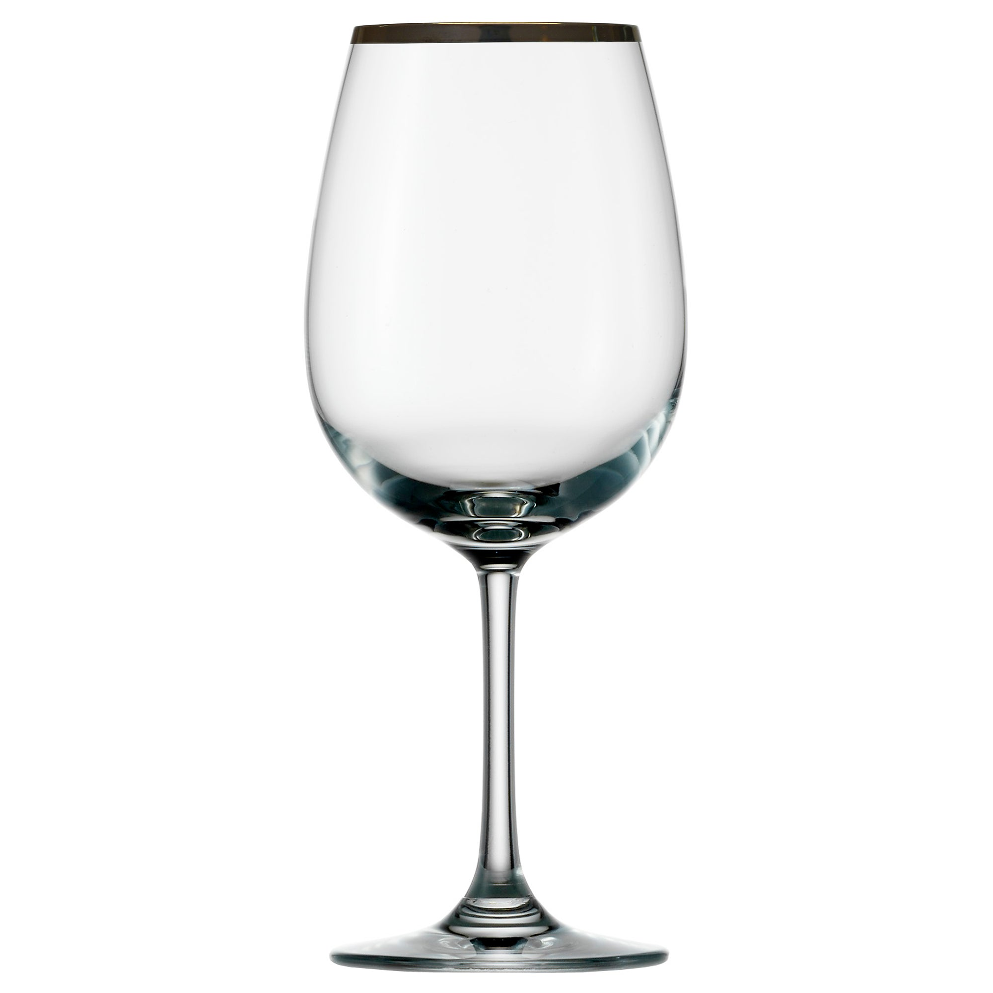 Standard Silver Rimmed Set of 4 Wine Glasses