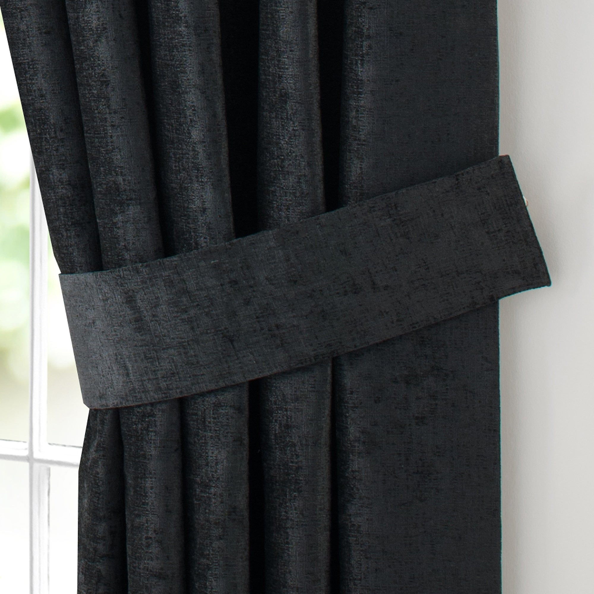 Black Chenille Collection Tiebacks