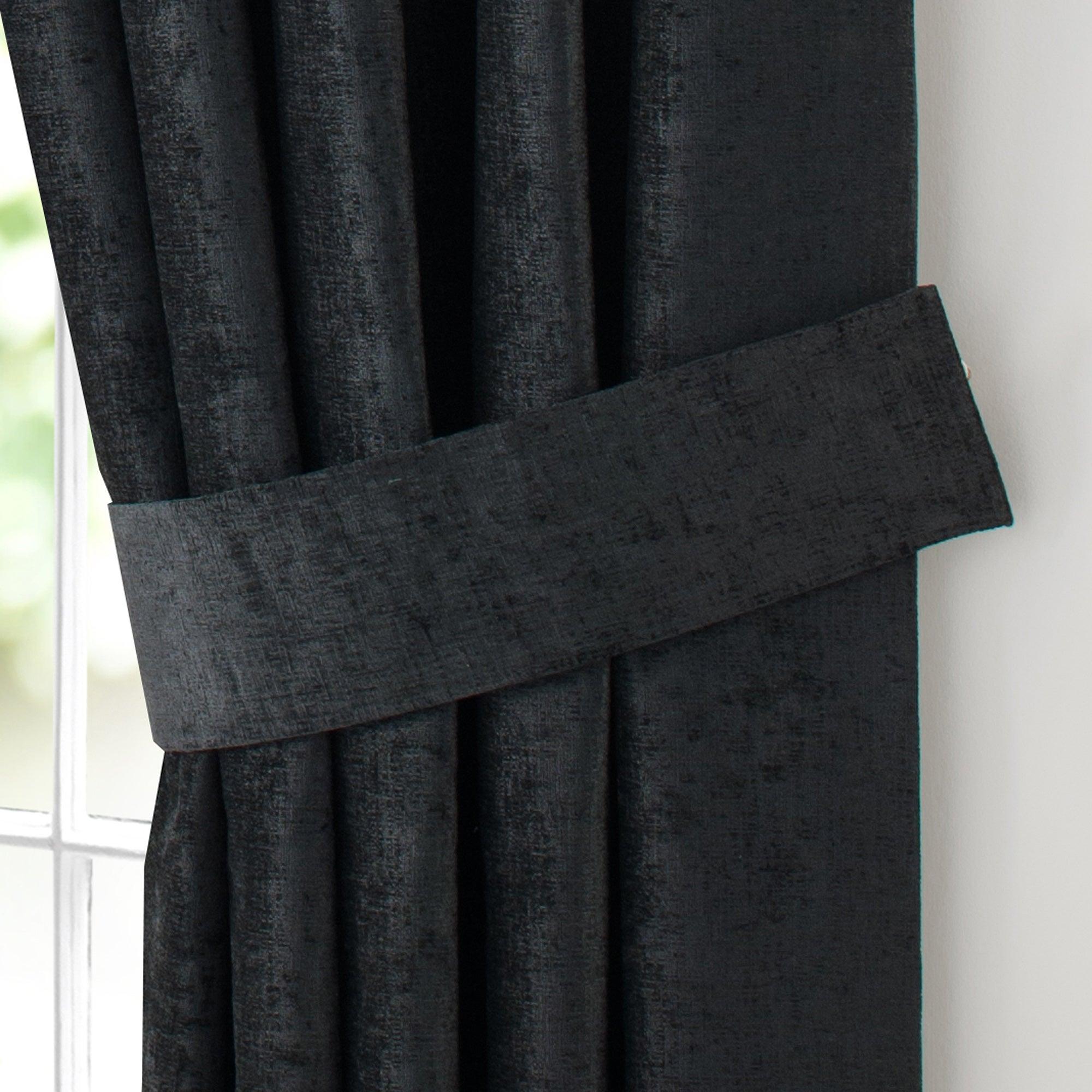 Black Chenille Collection Tiebacks