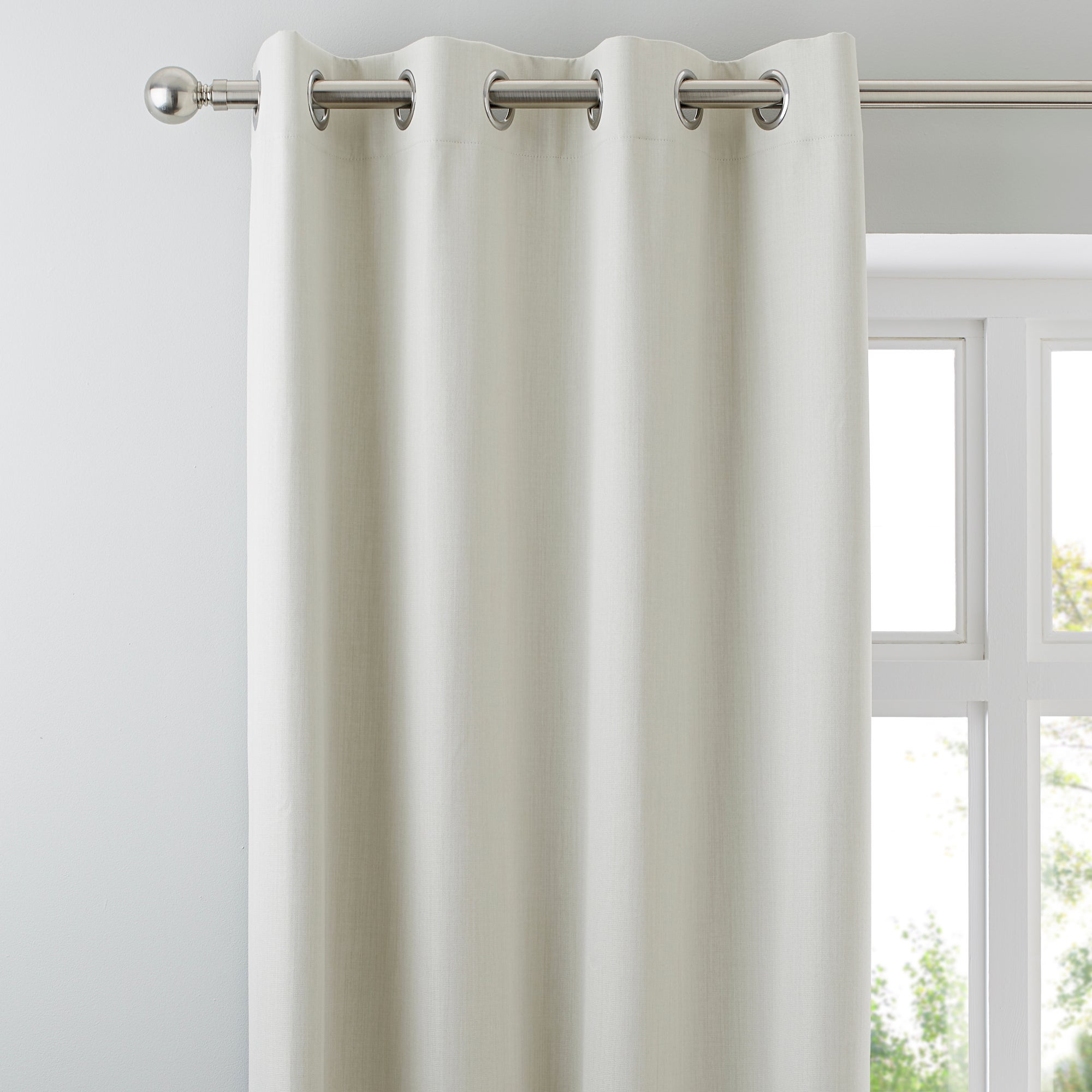 Waters and Noble Natural Solar Blackout Eyelet Curtains