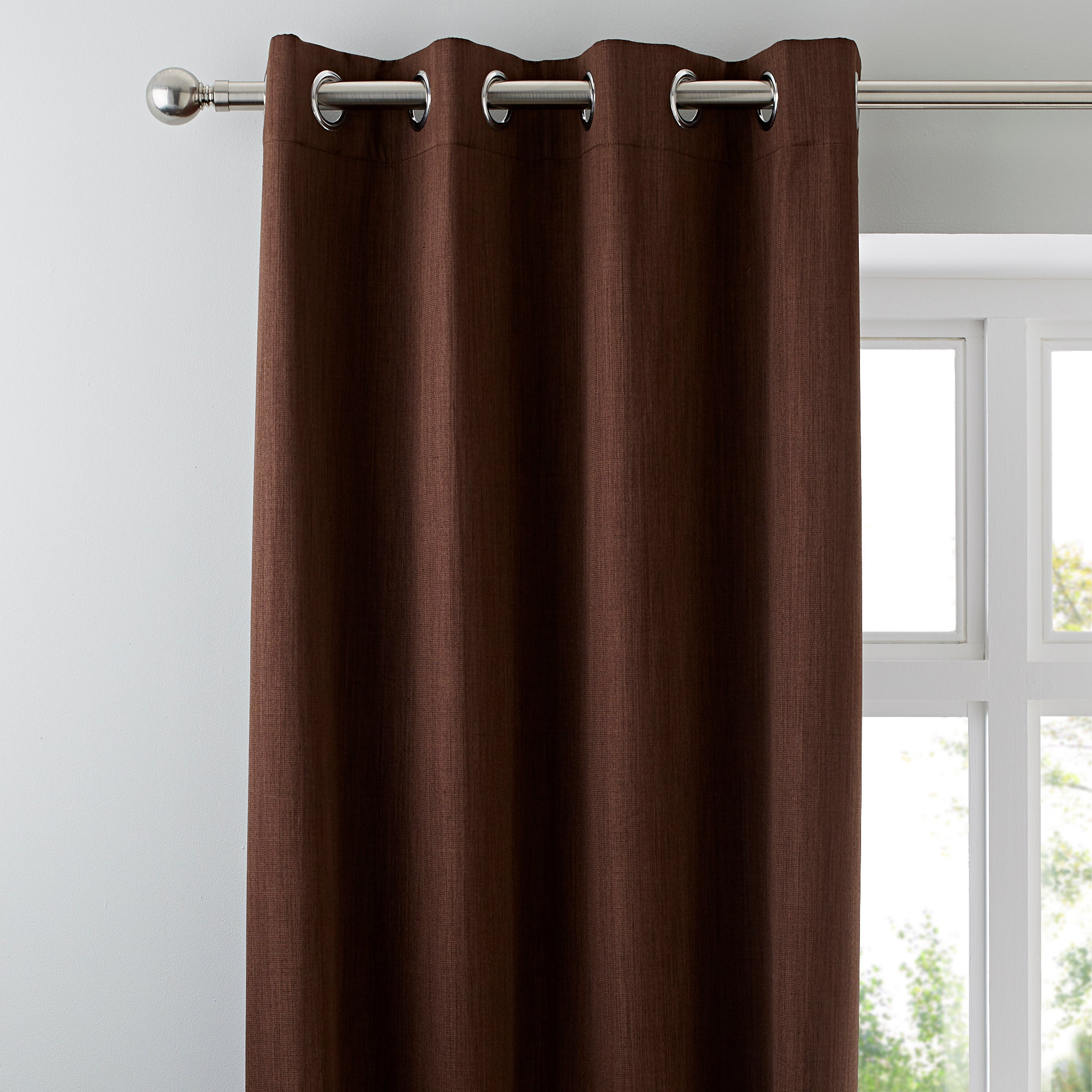 Waters and Noble Chocolate Solar Blackout Eyelet Curtains