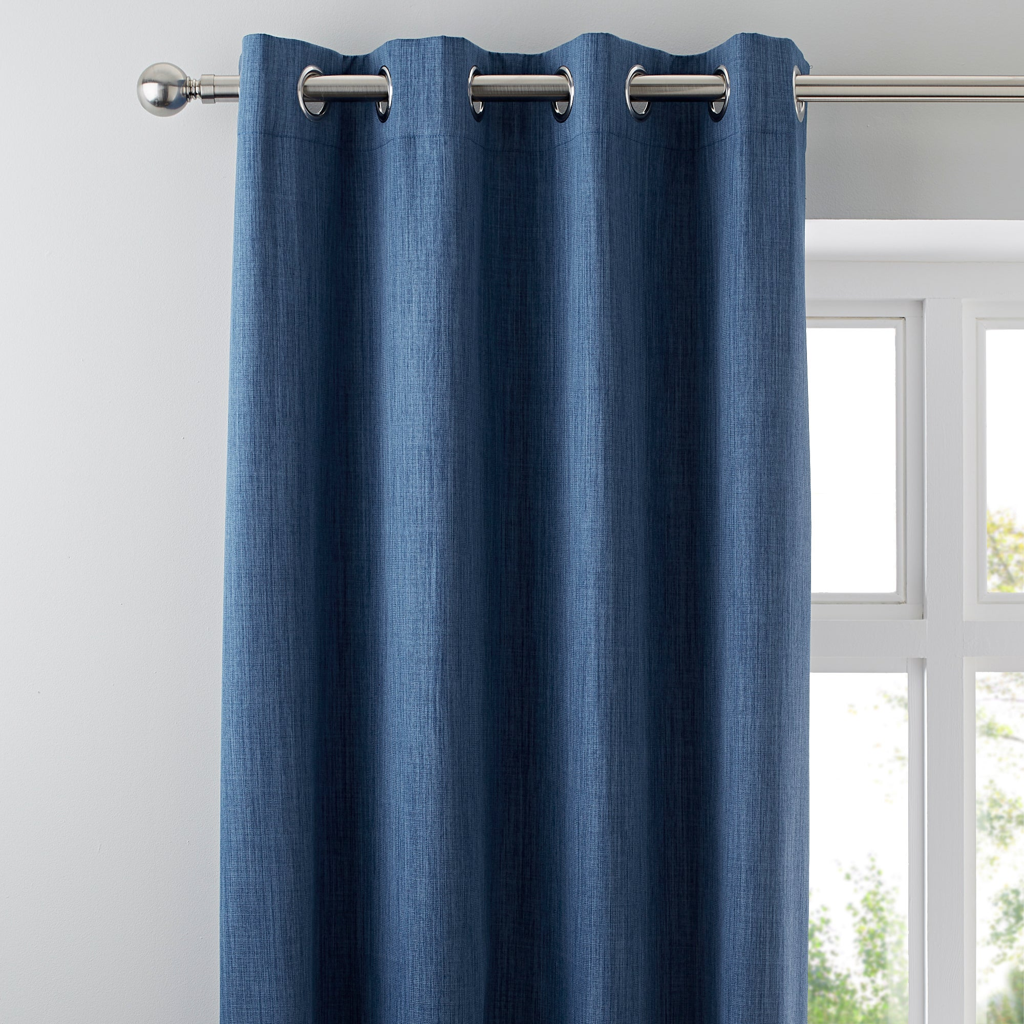 Waters and Noble Blue Solar Blackout Eyelet Curtains
