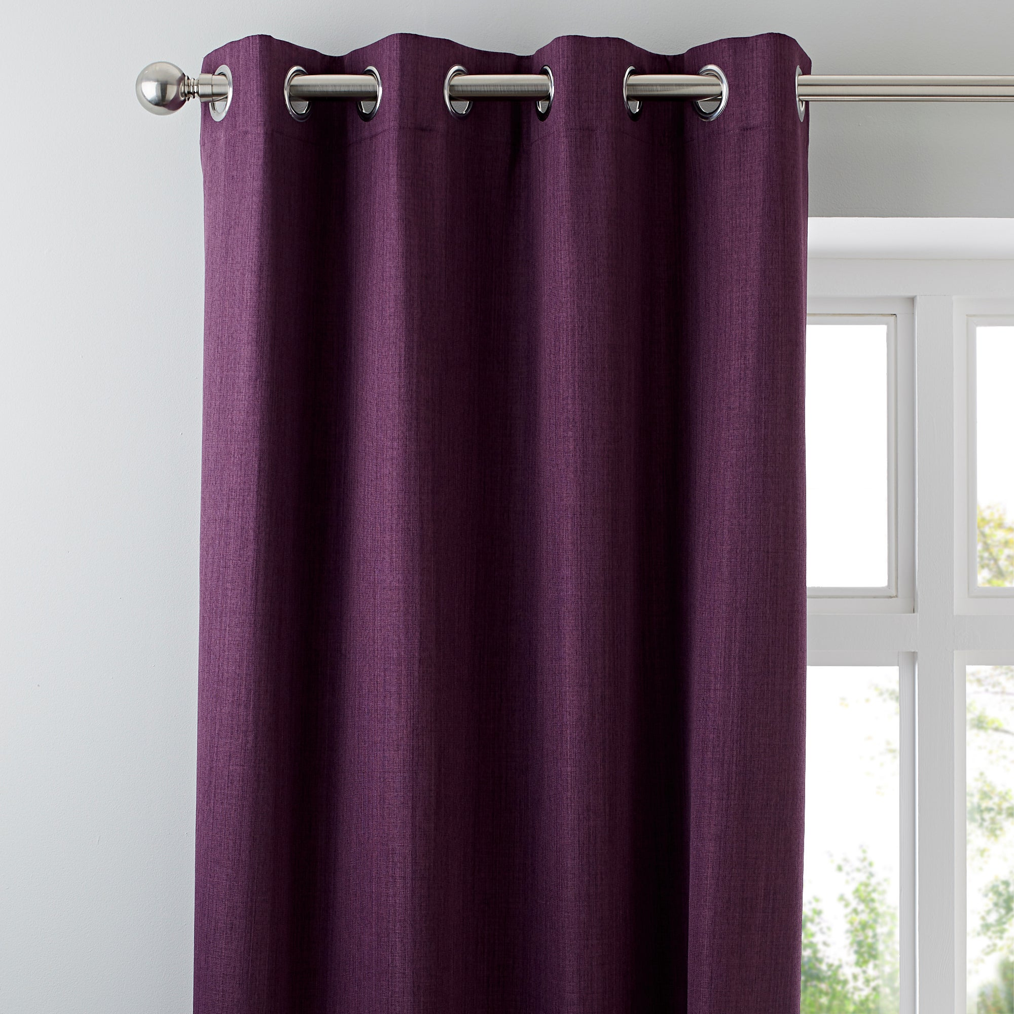 Waters and Noble Aubergine Solar Eyelet Curtain Collection