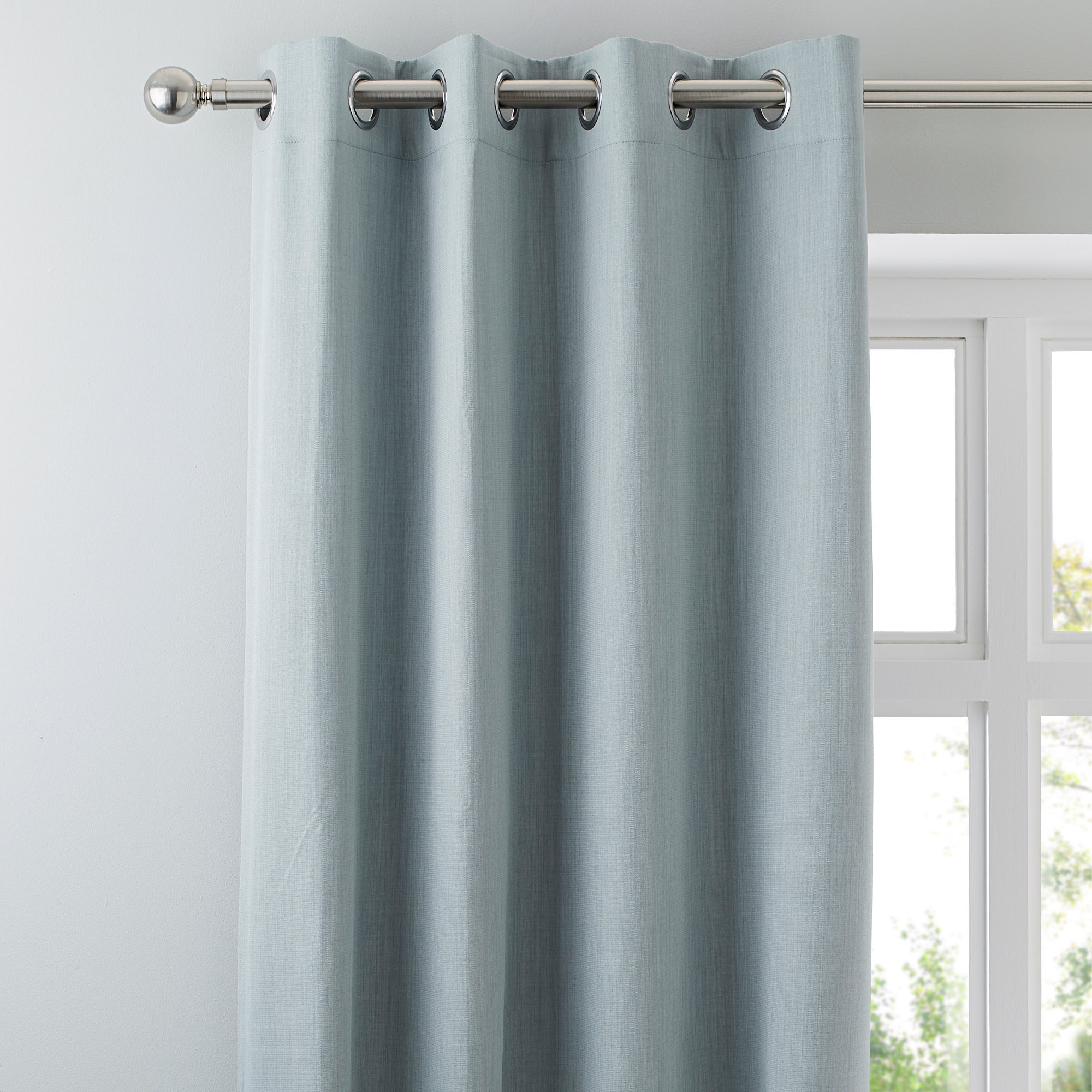 Waters and Noble Duck Egg Solar Blackout Eyelet Curtains