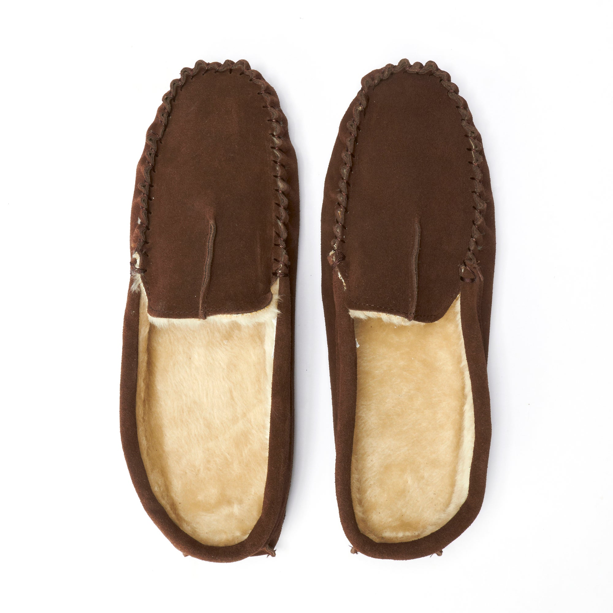 Mens Brown Suede Mule