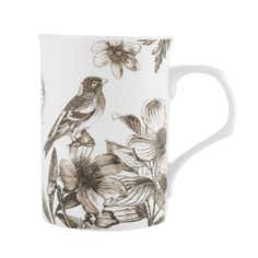 Etched Foliage Birds Mug