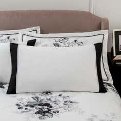 Dorma Black and White Gardenia Collection Cuffed Pillowcase