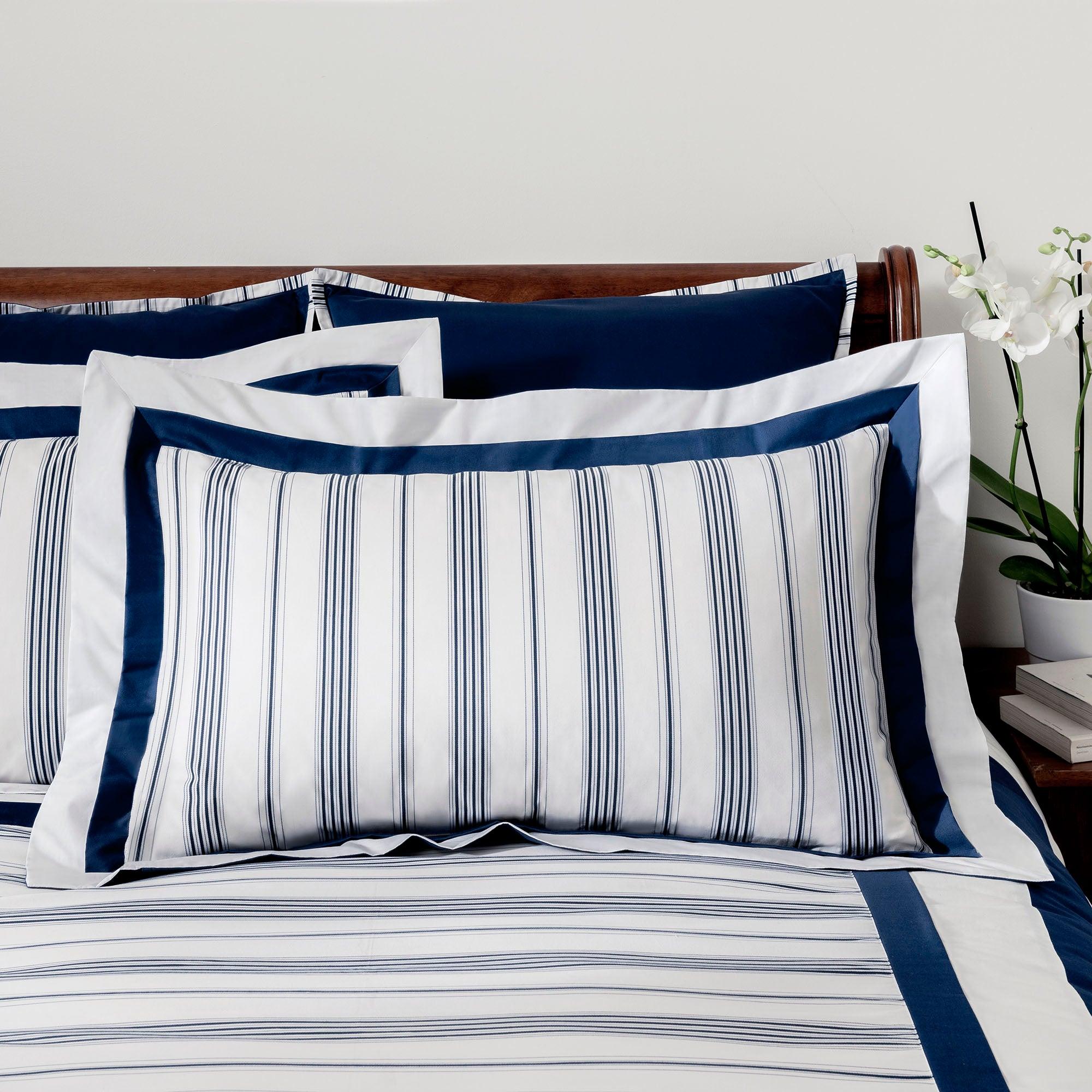 Dorma Navy Monaco Collection Oxford Pillowcase