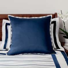 Dorma Navy Monaco Collection Continental Pillowcase