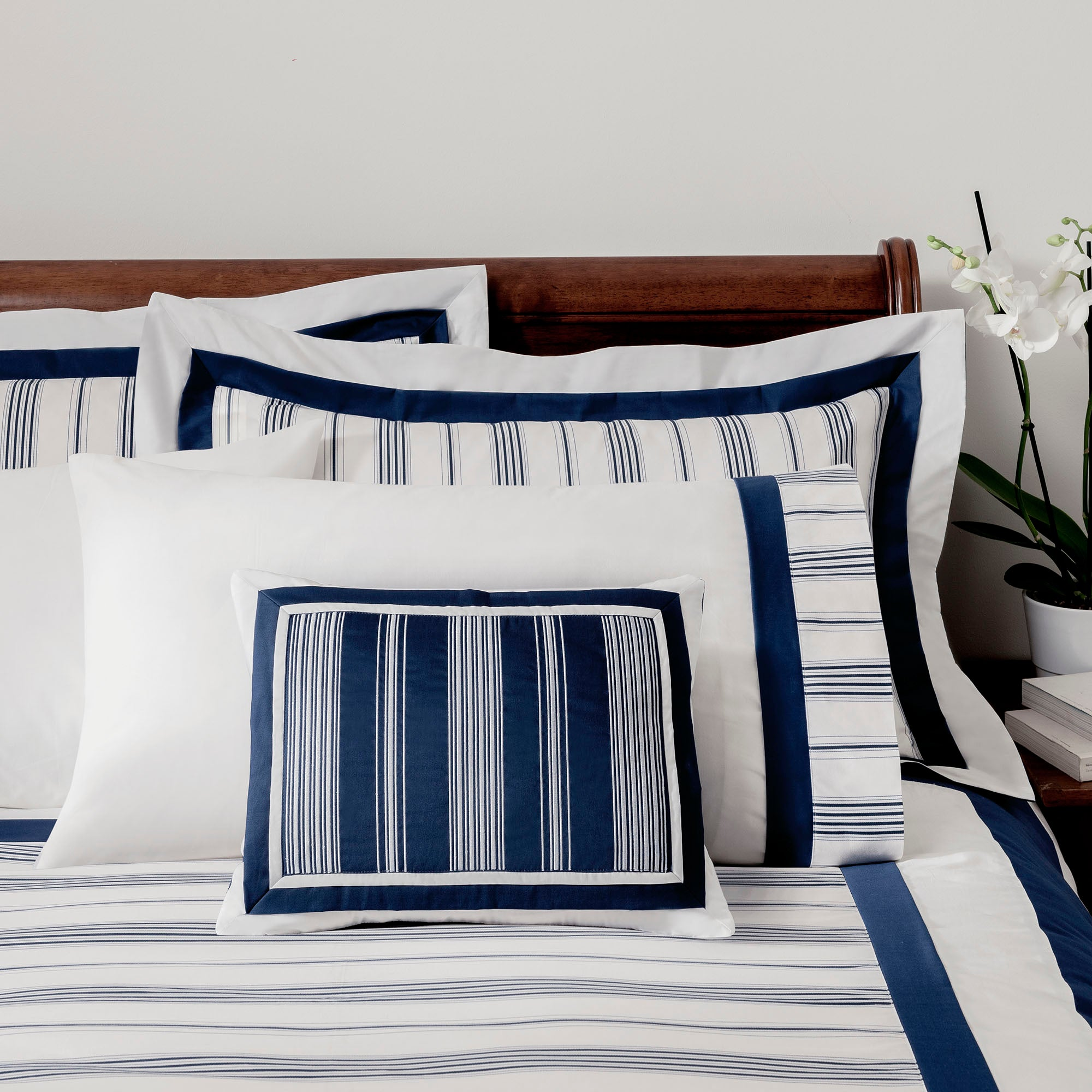 Dorma Navy Monaco Collection Cushion