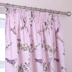 Heather Beautiful Birds Thermal Pencil Pleat Curtains