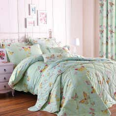 Eau de Nil Botanica Butterfly Collection Duvet Cover Set