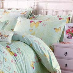 Eau de Nil Botanica Butterfly Collection Housewife Pillowcase