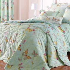 Eau de Nil Botanica Butterfly Collection Bedspread