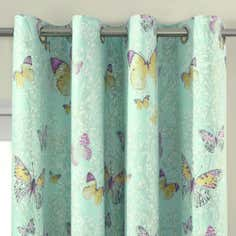 Eau de Nil Botanica Butterfly Thermal Eyelet Curtains