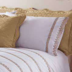 Gold Ciara Collection Housewife Pillowcase