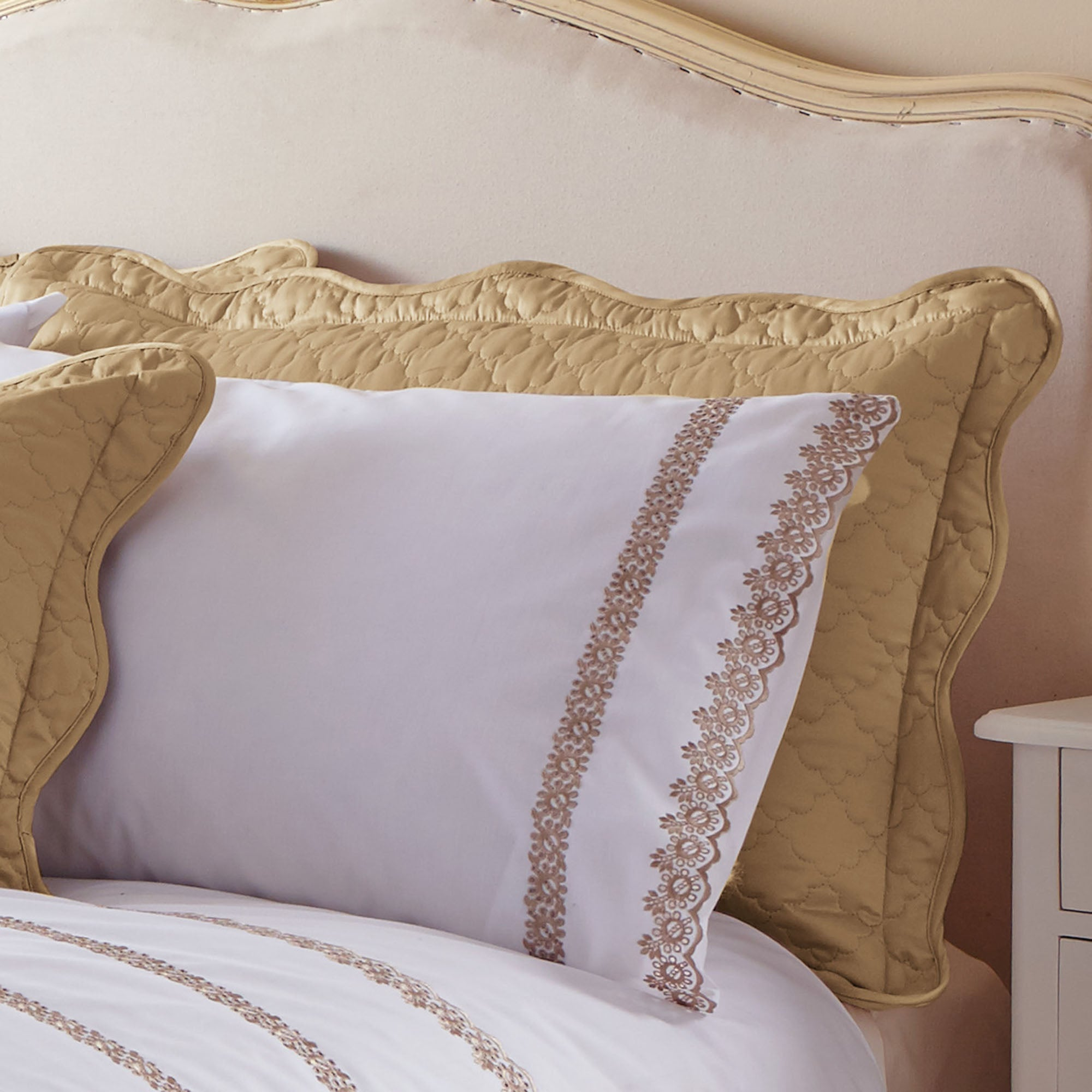 Gold Ciara Collection Pillow Sham